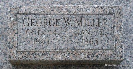 MILLER, GEORGE W - Adair County, Missouri | GEORGE W MILLER - Missouri Gravestone Photos