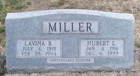 MILLER, HUBERT L - Adair County, Missouri | HUBERT L MILLER - Missouri Gravestone Photos