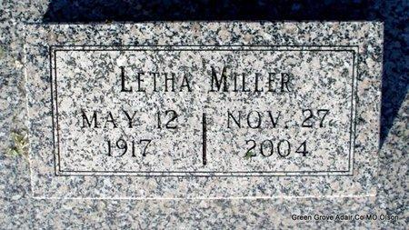 MILLER, LETHA - Adair County, Missouri | LETHA MILLER - Missouri Gravestone Photos