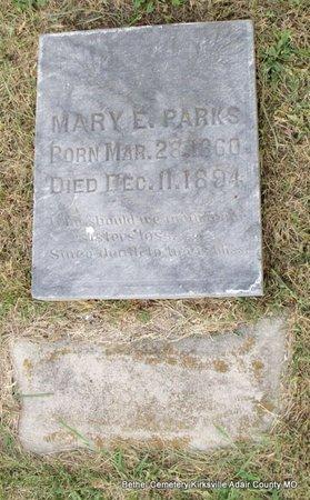 PARKS, MARY E - Adair County, Missouri | MARY E PARKS - Missouri Gravestone Photos