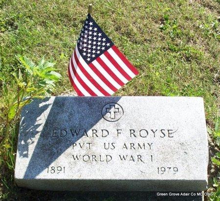ROYSE, EDWARD F (VETERAN WWI) - Adair County, Missouri   EDWARD F (VETERAN WWI) ROYSE - Missouri Gravestone Photos