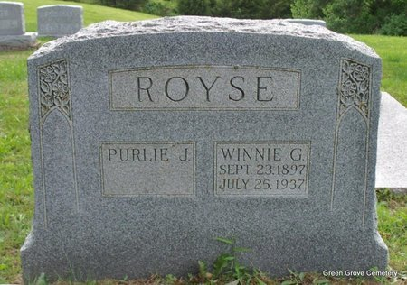 ROYSE, WINNIE G - Adair County, Missouri | WINNIE G ROYSE - Missouri Gravestone Photos