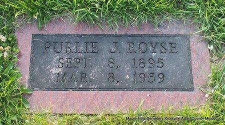 ROYSE, PURLIE JENISON - Adair County, Missouri | PURLIE JENISON ROYSE - Missouri Gravestone Photos