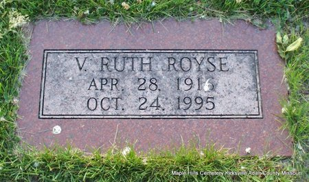 ROYSE, VELMA RUTH - Adair County, Missouri | VELMA RUTH ROYSE - Missouri Gravestone Photos
