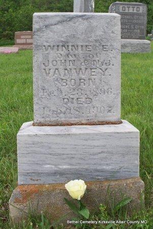 VANWEY, WINNIE E - Adair County, Missouri | WINNIE E VANWEY - Missouri Gravestone Photos