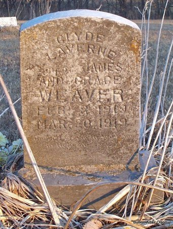 WEAVER, CLYDE LAVERNE - Adair County, Missouri | CLYDE LAVERNE WEAVER - Missouri Gravestone Photos