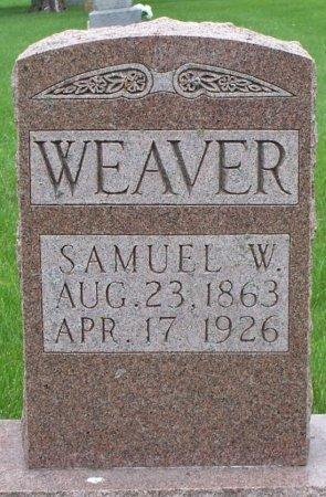 WEAVER, SAMUEL W - Adair County, Missouri   SAMUEL W WEAVER - Missouri Gravestone Photos