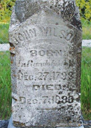 WILSON, JOHN (CLOSE UP) - Adair County, Missouri | JOHN (CLOSE UP) WILSON - Missouri Gravestone Photos