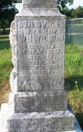 WILSON, MARY JANE (CLOSE UP) - Adair County, Missouri | MARY JANE (CLOSE UP) WILSON - Missouri Gravestone Photos
