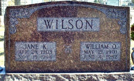 WILSON, JANE KATHERINE - Adair County, Missouri   JANE KATHERINE WILSON - Missouri Gravestone Photos