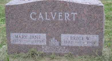 "CALVERT, MARY JANE ""JENNIE"" - Andrew County, Missouri | MARY JANE ""JENNIE"" CALVERT - Missouri Gravestone Photos"