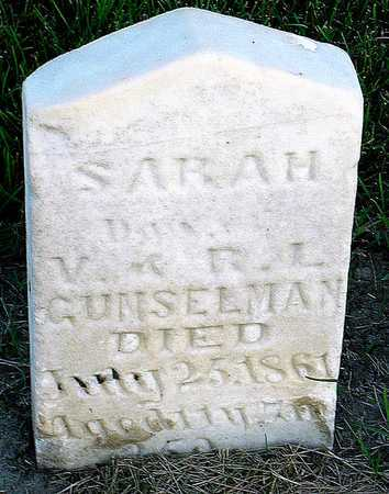 GUNSELMAN, SARAH - Andrew County, Missouri   SARAH GUNSELMAN - Missouri Gravestone Photos