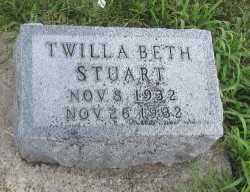 STUART, TWILA BETH - Andrew County, Missouri | TWILA BETH STUART - Missouri Gravestone Photos