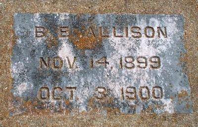 ALLISON, B. E. - Barry County, Missouri | B. E. ALLISON - Missouri Gravestone Photos