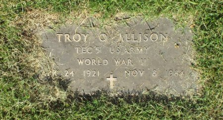 ALLISON, TROY O. VETERAN  WWII - Barry County, Missouri   TROY O. VETERAN  WWII ALLISON - Missouri Gravestone Photos