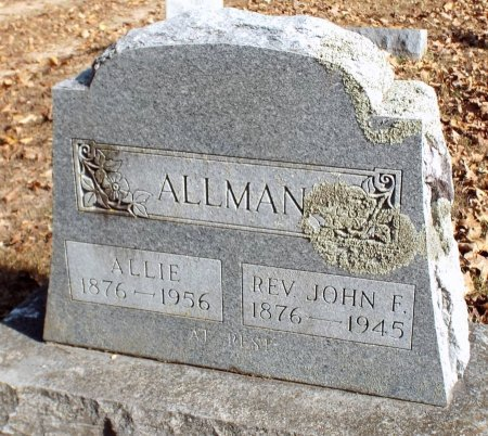 ALLMAN, JOHN FRANKLIN REV.  - Barry County, Missouri | JOHN FRANKLIN REV.  ALLMAN - Missouri Gravestone Photos