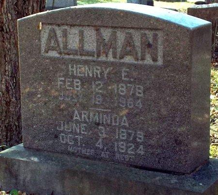 HILTON ALLMAN, ARMINDA - Barry County, Missouri | ARMINDA HILTON ALLMAN - Missouri Gravestone Photos