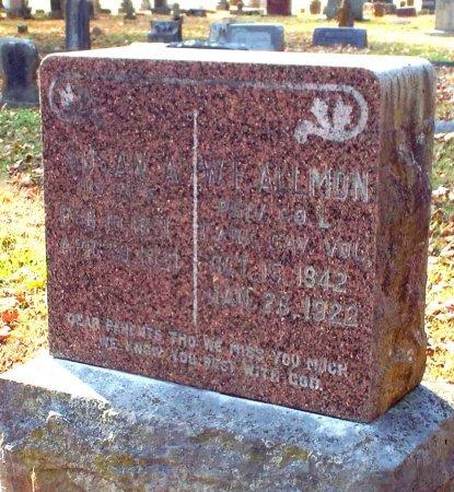 THOMAS ALLMON, SUSAN ANN - Barry County, Missouri | SUSAN ANN THOMAS ALLMON - Missouri Gravestone Photos