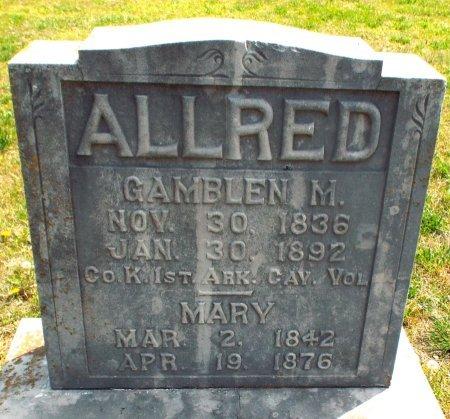 ALLRED, GAMBLEN (VETERAN CW) - Barry County, Missouri | GAMBLEN (VETERAN CW) ALLRED - Missouri Gravestone Photos
