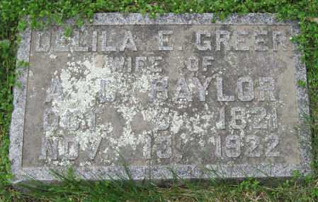 BAYLOR, DELILA E - Barry County, Missouri   DELILA E BAYLOR - Missouri Gravestone Photos