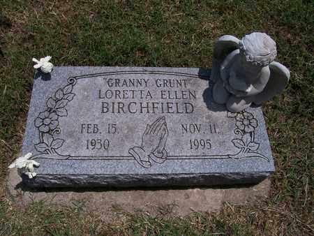 BIRCHFIELD, LORETTA ELLEN - Barry County, Missouri | LORETTA ELLEN BIRCHFIELD - Missouri Gravestone Photos