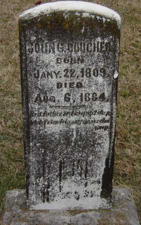 BOUCHER, JOHN G - Barry County, Missouri | JOHN G BOUCHER - Missouri Gravestone Photos