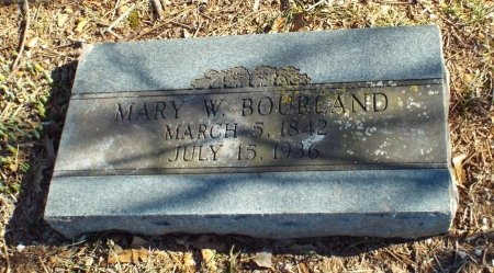 BOURLAND, MARY WHEELER - Barry County, Missouri | MARY WHEELER BOURLAND - Missouri Gravestone Photos