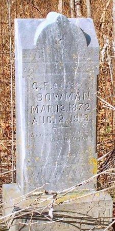 BOWMAN, CHARLES F. - Barry County, Missouri | CHARLES F. BOWMAN - Missouri Gravestone Photos