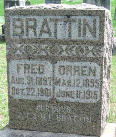 BRATTIN, FRED - Barry County, Missouri | FRED BRATTIN - Missouri Gravestone Photos