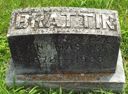 BRATTIN, THOMAS JOSEPH - Barry County, Missouri   THOMAS JOSEPH BRATTIN - Missouri Gravestone Photos