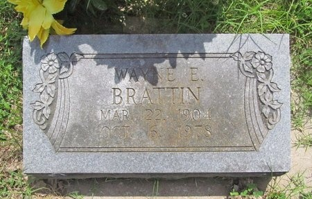 BRATTIN, WAYNE E - Barry County, Missouri   WAYNE E BRATTIN - Missouri Gravestone Photos