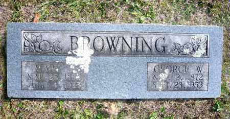 BROWNING, MARY JANE - Barry County, Missouri | MARY JANE BROWNING - Missouri Gravestone Photos