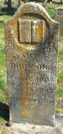 BROWNING, MARY E - Barry County, Missouri | MARY E BROWNING - Missouri Gravestone Photos