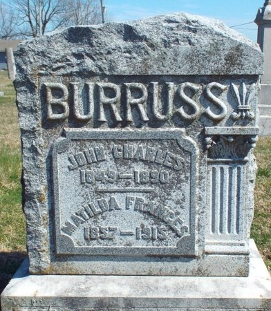 BURRUSS, MATILDA FRANCES - Barry County, Missouri | MATILDA FRANCES BURRUSS - Missouri Gravestone Photos