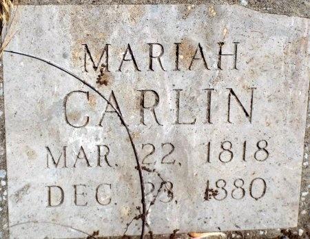 CARLIN, MARIAH - Barry County, Missouri | MARIAH CARLIN - Missouri Gravestone Photos