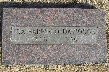 BARFIELD DAVIDSON, IDA - Barry County, Missouri   IDA BARFIELD DAVIDSON - Missouri Gravestone Photos