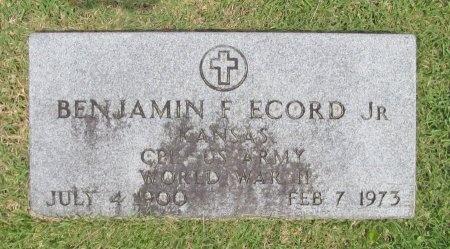 ECORD, BENJAMIN F JR  (VETERAN  WWII) - Barry County, Missouri | BENJAMIN F JR  (VETERAN  WWII) ECORD - Missouri Gravestone Photos