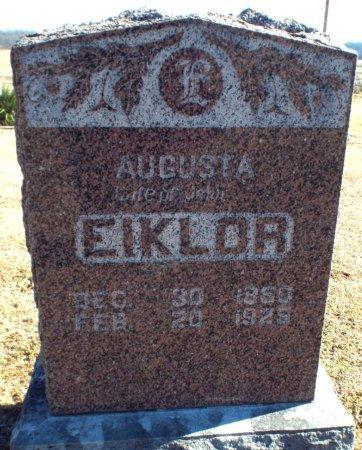 JOHNSON EIKLOR, AGUSTA  - Barry County, Missouri | AGUSTA  JOHNSON EIKLOR - Missouri Gravestone Photos