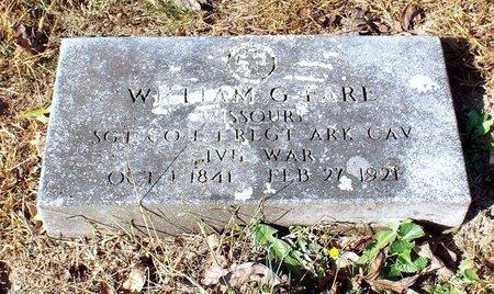 FARE, WILLIAM GARDNER VETERAN CW - Barry County, Missouri | WILLIAM GARDNER VETERAN CW FARE - Missouri Gravestone Photos