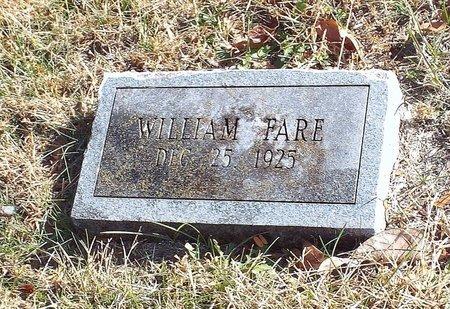 FARE, WILLIAM - Barry County, Missouri | WILLIAM FARE - Missouri Gravestone Photos