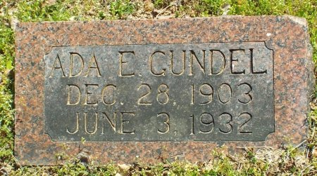 GUNDEL, ADA E. - Barry County, Missouri | ADA E. GUNDEL - Missouri Gravestone Photos