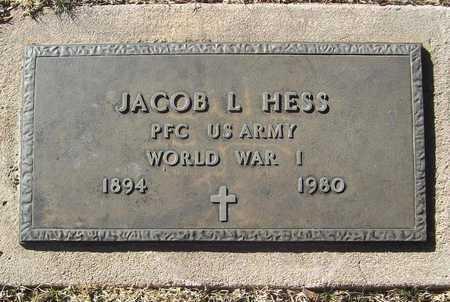 HESS, JACOB L VETERAN WWI - Barry County, Missouri | JACOB L VETERAN WWI HESS - Missouri Gravestone Photos