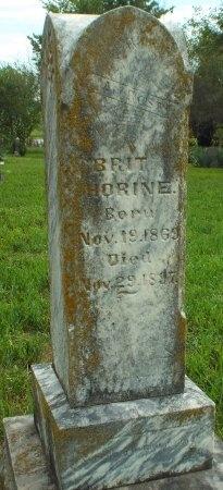 HORINE, BRIT - Barry County, Missouri | BRIT HORINE - Missouri Gravestone Photos