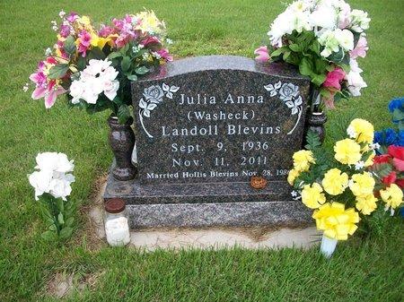 LANDOLL BLEVINS, JULIA - Barry County, Missouri | JULIA LANDOLL BLEVINS - Missouri Gravestone Photos