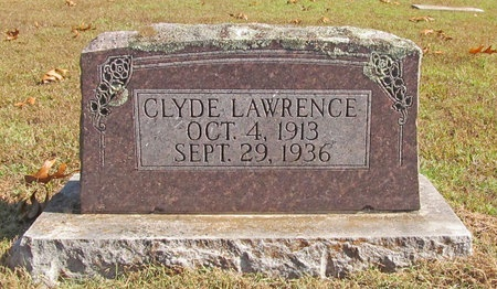 LAWRENCE, CLYDE - Barry County, Missouri   CLYDE LAWRENCE - Missouri Gravestone Photos