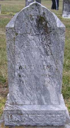 LAWRENCE, WILMA ILENE - Barry County, Missouri   WILMA ILENE LAWRENCE - Missouri Gravestone Photos