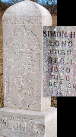 LONG, SIMON HIRAM (VETERAN CW) - Barry County, Missouri | SIMON HIRAM (VETERAN CW) LONG - Missouri Gravestone Photos