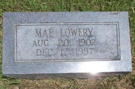LOWERY, MAE - Barry County, Missouri | MAE LOWERY - Missouri Gravestone Photos