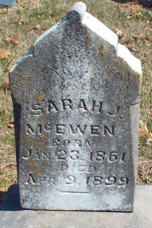 MCEWEN, SARAH J - Barry County, Missouri | SARAH J MCEWEN - Missouri Gravestone Photos