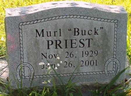 "PRIEST, MURL ""BUCK"" - Barry County, Missouri   MURL ""BUCK"" PRIEST - Missouri Gravestone Photos"